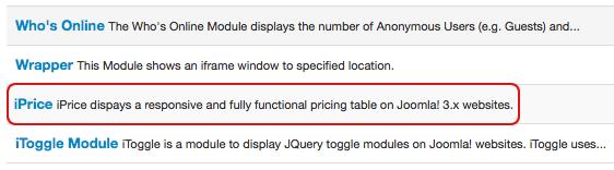 Arashtad Pricing Table<, Responsive Pricing Table for Joomla! 3