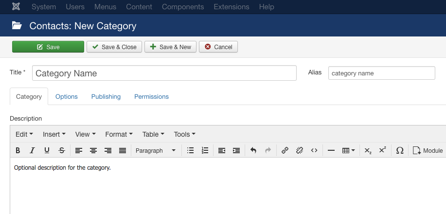 How to Create a Contact form in Joomla!